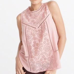 Abercrombie & Fitch Pink Eyelet Top NWT